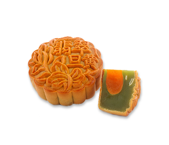 Single Yolk Pandan Mooncake